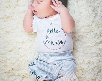 Newborn set, newborn onesie and pants, newborn, onesie set, coming home outfit boy, newborn outfit boy, newborn boy, newbie outfit