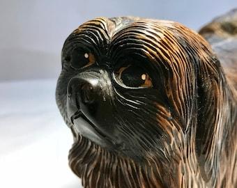 Unique Hand Carved Wooden Dog