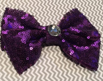 Purple Sequin Bow