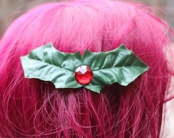 A pretty hairclip for christmas - ready to ship