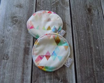 Washable nursing pads, Maternity, Reusable Breasts pads, Triangles