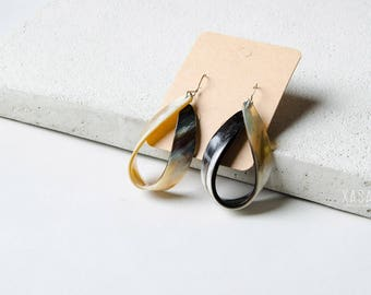 Drop Shape Horn Earrings