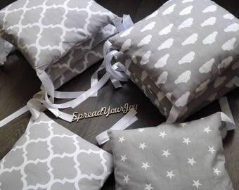 Baby crib bedding bumper pillows pads