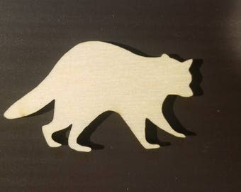 50 Laser Cut Racoons - Wood Racoons - Crafting Supplies