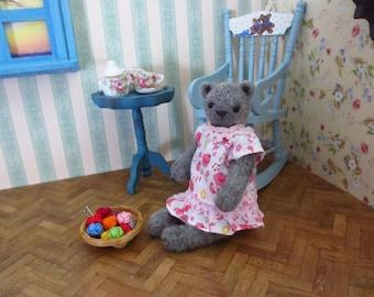 Tess Bear - kawaii, small bear,artist bear, miniature bear, dollhouse bear, tiny bear, art bear, teddy bear, Blythe