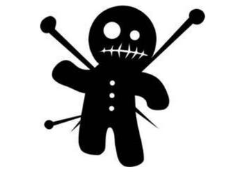 Voodoo Doll, vinyl decal, vinyl sticker, Hoodoo, Poppet, Black Magic, Pins and Needles, Witchcraft, Witch Doctor, Witch, Pagan, Wiccan, yeti