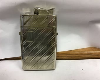 Evans Lighter and Cigarette Case, Vintage Lighter, Art Deco Lighter