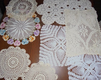 Vintage Group of Hand Made Doilies