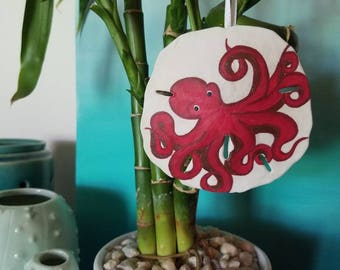 Octopus Sand Dollar Ornament