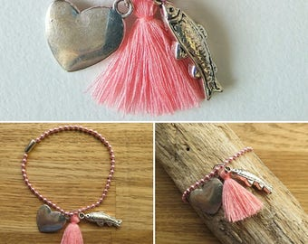 Bracelet ball chain Assembly and French creation
