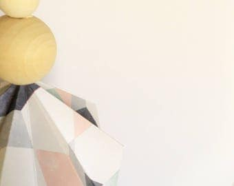 Paper Diamond drop x1 - Pink, Navy and Mint Geo
