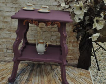 Shabby Chic Plum Coffee- Side Table