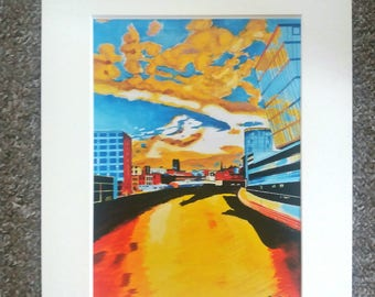 """Limited edition print - The Wicker, Sheffield  - A3, A4 or 7"""" x 5"""" Print of an Original Painting by Bryan John"""