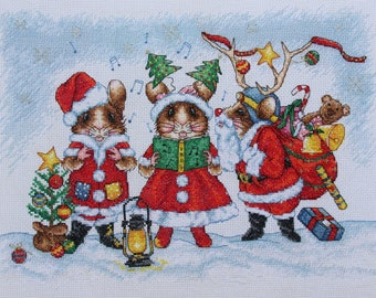 ET05 The Little Carol Singers Cross Stitch Chart Only