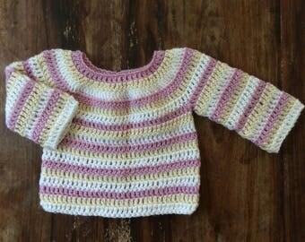 Woollen crochet jumper SZ 3-6 months