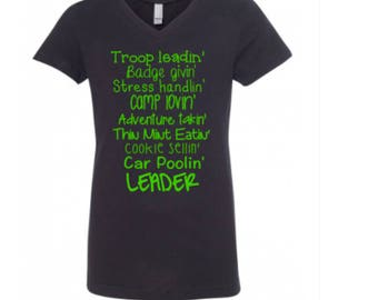Troop Leadin', Camp Lovin', Leader Shirt