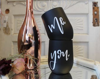 You and Me stainless steel wine set