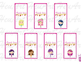 NEW Strawberry Shortcake Characters Clipart,Thank You Tag Clipart,GiftTag,StrawberryshortcakeParty,Labels,Stickers,StrawberryshortcakePrinta