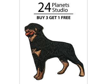 Rottweiler Iron on Patch by 24PlanetsStudio Cute Applique Cute Patch dog patch dogs