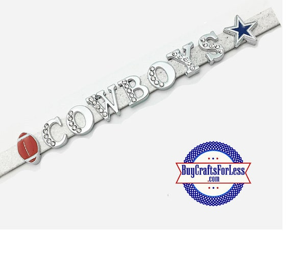 DALLAS Football CHARMS for 8mm Slider Bracelets, Collars, or Key Rings +FREE Shipping & Discounts*