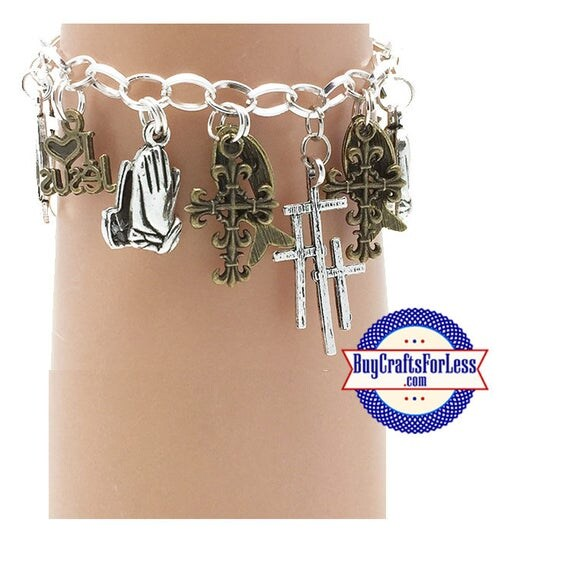 CHRISTIAN Faith Charm bracelet, Very Nice - **FREE SHIPPING**