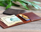 Leather Wallet Minimalist Leather Wallet Mens Leather Wallet Thin Leather Wallet Brown Leather Wallet Slim Leather Wallet Brown Mens Wallet
