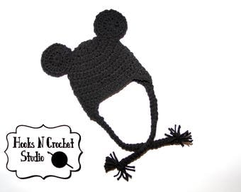 newborn mouse hat, newborn beanie, newborn Mickey, newborn Mickey inspired hat, newborn mouse beanie, newborn boy prop, newborn boy hat