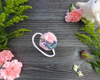 Baby Headband Summer Rain/Pink