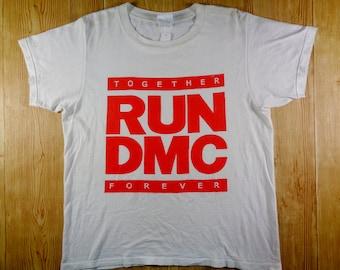 On Sale! Vintage 90s RUN DMC Together Forever Hip Hop Band Tshirt