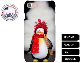 Penguin Phone Case, Phone Case Penguin, Penguin iPhone Case, Penguin Galaxy Case, Penguin Google Pixel Case, Galaxy S6 Edge, Galaxy A5 Case