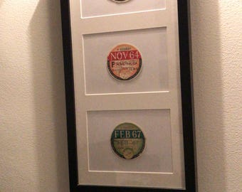 Vintage tractor tax disk wall hanging