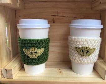 Yoda Inspired Coffee Cozy