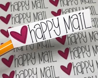 Happy Mail Stickers | Handmade Stickers | Package Stickers | Shipping Stickers | Maker Stickers | Small Business Stickers