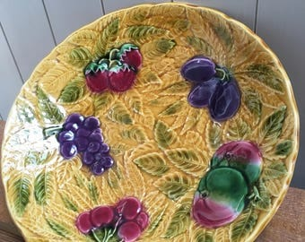 Barbotine Fruit Bowl ,French Cuisine, Home Decor