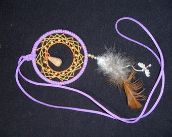 purple dream catcher necklace