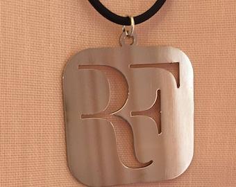 Roger Federer logo necklace SS pendant