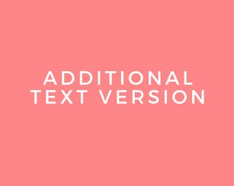 Add On: Additional Text Change (not needed for the initial premade brand design purchase)