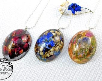 Wedding Keepsake Jewelry, Flower Jewelry, Custom Flower Jewelry, Wedding Bouquet Flower Jewelry, Custom Flower Necklace, Wedding Flowers