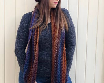Sunset Hat and Infinity Scarf