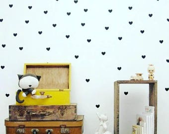 Gold, silver or black hearts x 36 stickers