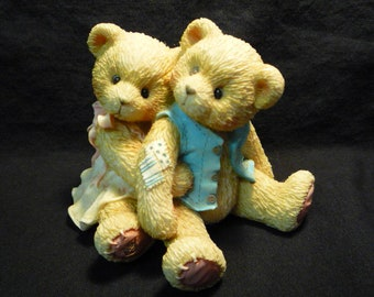 Cherished Teddies Seth and Sarabeth We're Beary Good Pals 1995 128015 Boxed