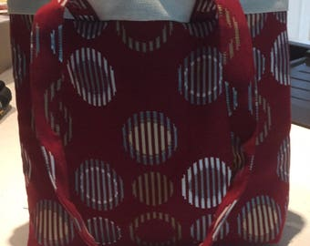 Hand crafted padded tote bag
