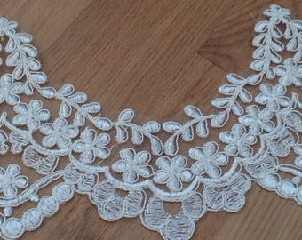 Guipure lace sewing off-white 12.5 cm wide