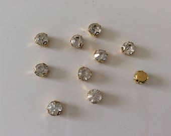 Rhinestone Crystal set of 3 Golden d n not hang on the fragile silk