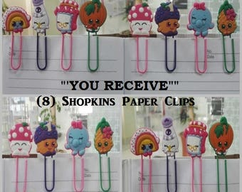 Shopkins Paper Clips Super Sweet Stocking Stuffers For Kids Xmas Gifts Office Accessories Gifts (8) Shop Kins Paper Clips