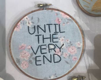 Harry Potter Deathly Hallows Until the Very End Embroidery Hoop 5""
