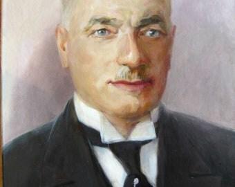 Commission portrait, custom portrait, custom oil painting, commission painting, custom painting, portrait from old photo, restoration art
