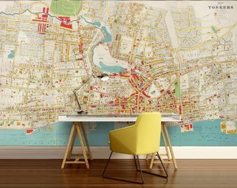 city map wallpaper, street wall mural, Yonkers city map, Yonkers city wallpaper, world map wall mural, street map wallpaper, street map