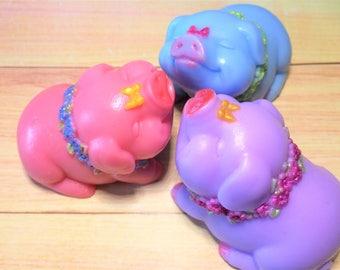 Pig Soap-Animal Soap-Smiling Pig - Pets Soap-Kids Soap-3 D Soap.