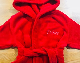 Personalised baby and toddler dressing gown